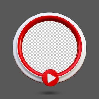 Ícone de mídia social de transmissão ao vivo de música 3d