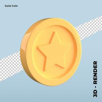 Ícone de moeda de ouro dos desenhos animados isolado