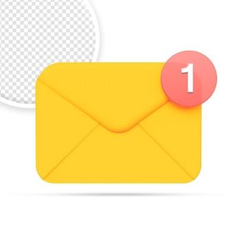 Ícone de notificação de e-mail ou sms isolado
