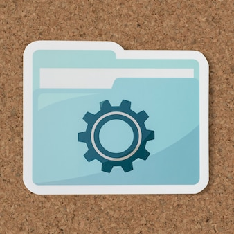 Ícone de pasta de configurações de corte de papel