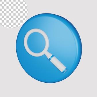 Ícone de pesquisa 3d