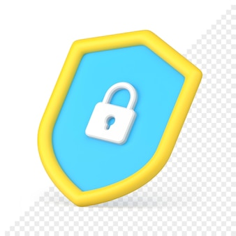 Ícone de proteção de dados 3d