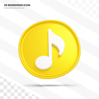 Ícone de renderização 3d de música
