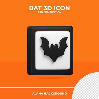Ícone de renderização 3d do bastão halloween premium psd