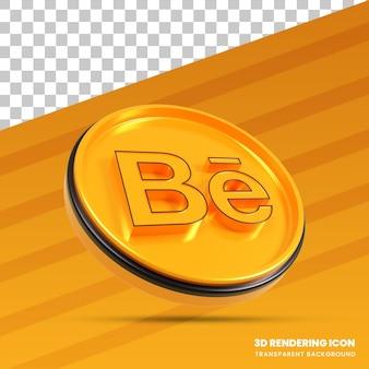 Ícone de renderização 3d do behance