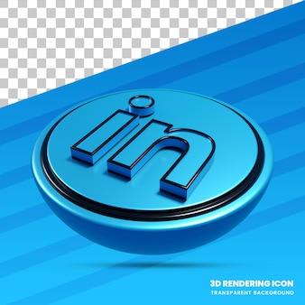 Ícone de renderização 3d do linkedin