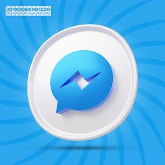 Ícone de renderização 3d do messenger