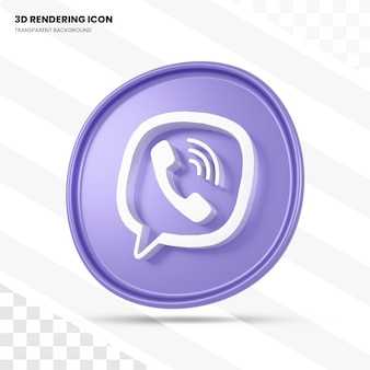 Ícone de renderização 3d do viber