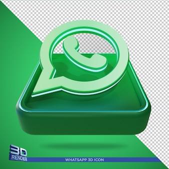 Ícone de renderização 3d do whatsapp isolado