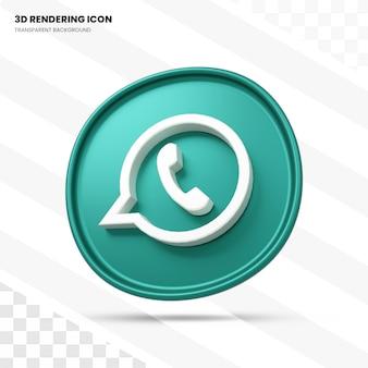 Ícone de renderização 3d do whatsapp