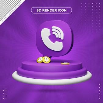 Ícone de renderização 3d viber