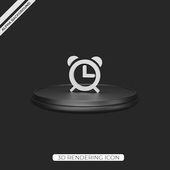 Ícone de renderização do despertador 3d isolado