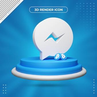 Ícone de renderização do messenger 3d