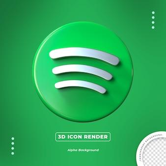 Ícone de renderização isolado 3d do spotify