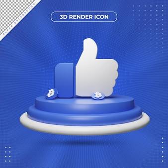 Ícone de renderização semelhante a 3d