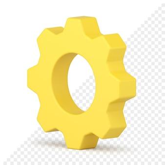 Ícone de roda dentada 3d