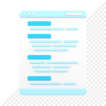 Ícone de script de código 3d