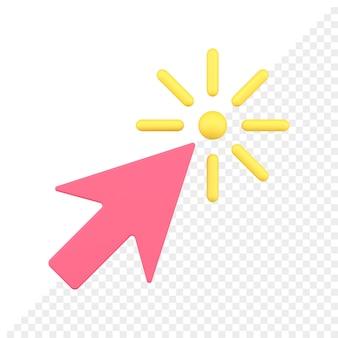 Ícone de seta 3d do cursor