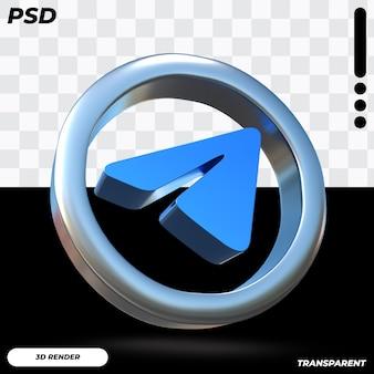 Ícone de telegrama 3d