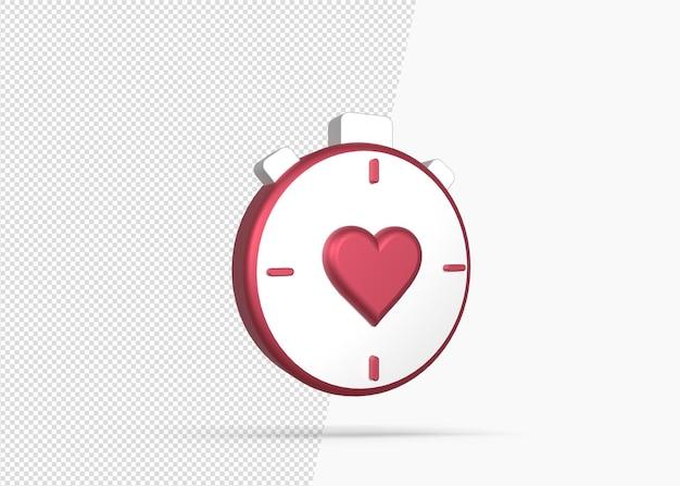 Ícone de treino cardio metabólico 3d isolado