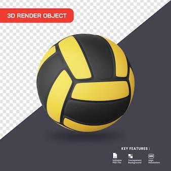 Ícone de voleibol de renderização 3d