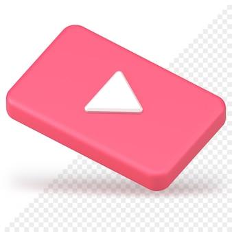 Ícone do botão de reprodução de vídeo 3d