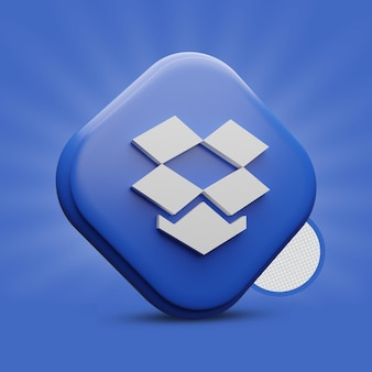 Ícone do dropbox 3d