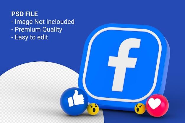 Ícone do facebook e design de reações do facebook