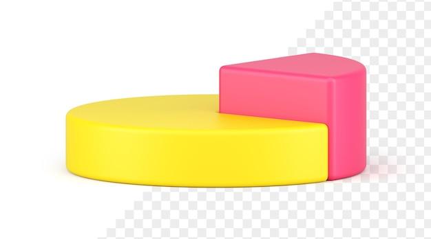 Ícone do gráfico de pizza 3d