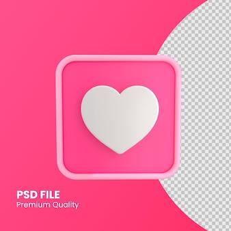 Ícone do instagram como conceito de design em cores rosa