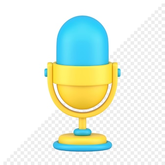 Ícone do microfone 3d