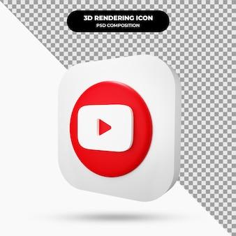 Ícone do objeto 3d do youtube
