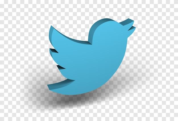 Ícone do twitter isolado