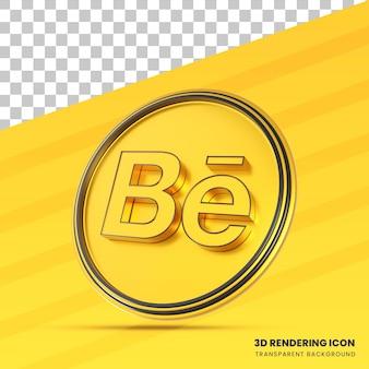 Ícone redering do behance 3d