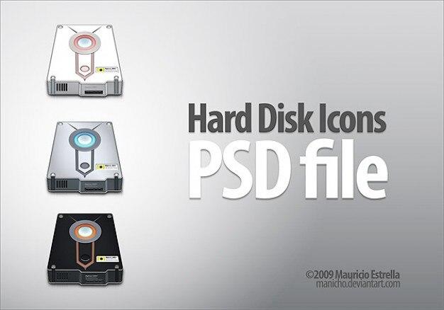 Ícones de disco rígido psd