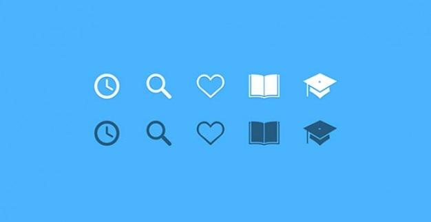 Ícones de educação pequeno conjunto psd