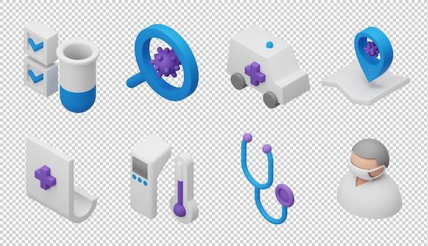 Ícones de pesquisa 3d