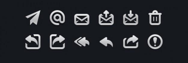 Ícones do correio pequenas em psd