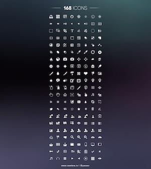 Ícones ícone do pixel psd ui