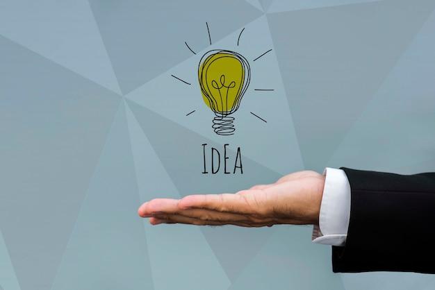 Ideia com inovação de marketing de lâmpada