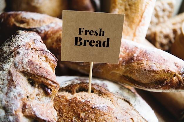 Idéia de receita de fotografia de pão caseiro fresco