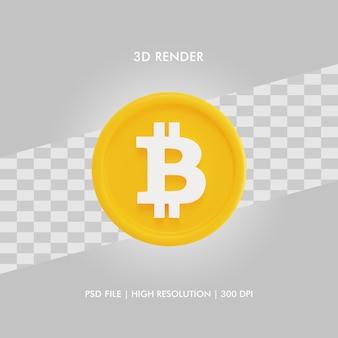 Ilustração 3d bitcoin