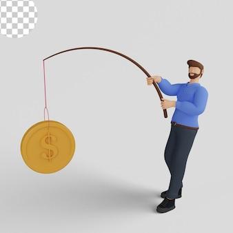 Ilustração 3d, conceito de planejamento financeiro