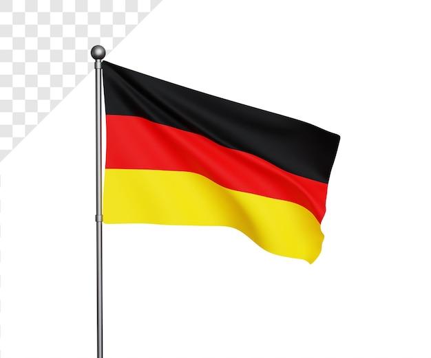 Ilustração 3d da bandeira alemã