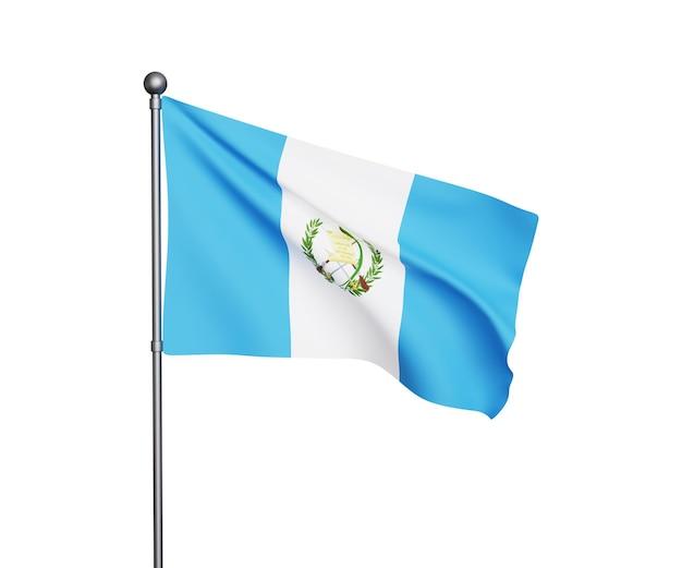 Ilustração 3d da bandeira da guatemala