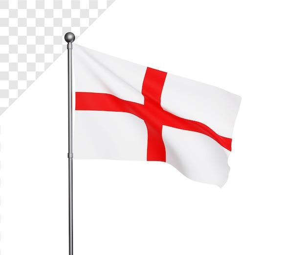 Ilustração 3d da bandeira da inglaterra