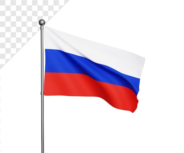 Ilustração 3d da bandeira da rússia