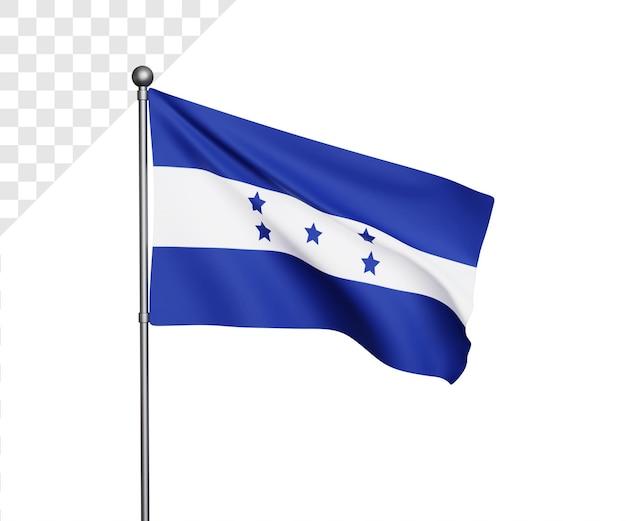 Ilustração 3d da bandeira de honduras