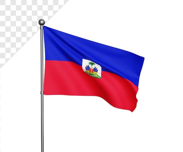 Ilustração 3d da bandeira haiti