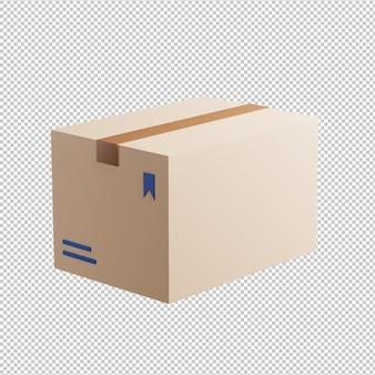 Ilustração 3d da caixa do pacote de entrega